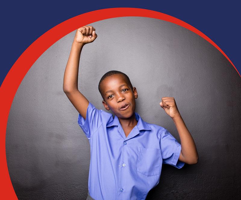 Izwe Ghana for you loans | Personal Loans | Happy school boy | Back to school loans | mobi banner