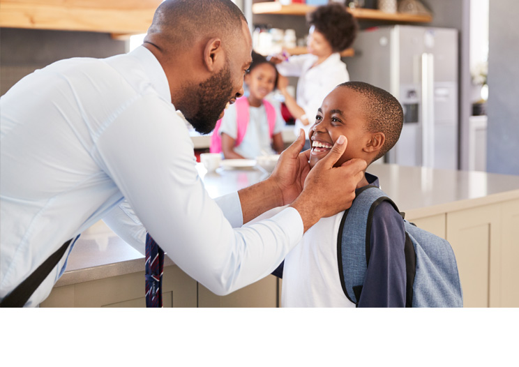 Izwe Ghana for you loans | Personal Loans | Man with Son | Back to school loans | Square image